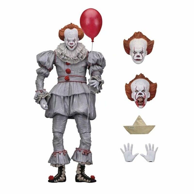 Neca 18cm horro stephen king it s it pennywise palhaço bjd figura de ação brinquedos bonecas cosplay dia das bruxas presente de natal