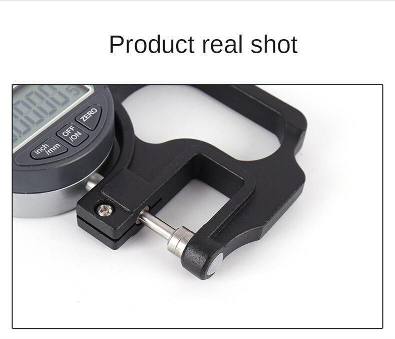 0-12.7mm Digital Micron Thickness Gauge Tester Meter Micrometer Caliper Gauge Measuring Tools 0.001mm enlarge