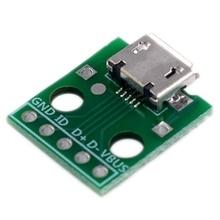 Hot 10Pcs Micro-Usb Naar Dip Adapter 5Pin Vrouwelijke Connector Type B Pcb Converter