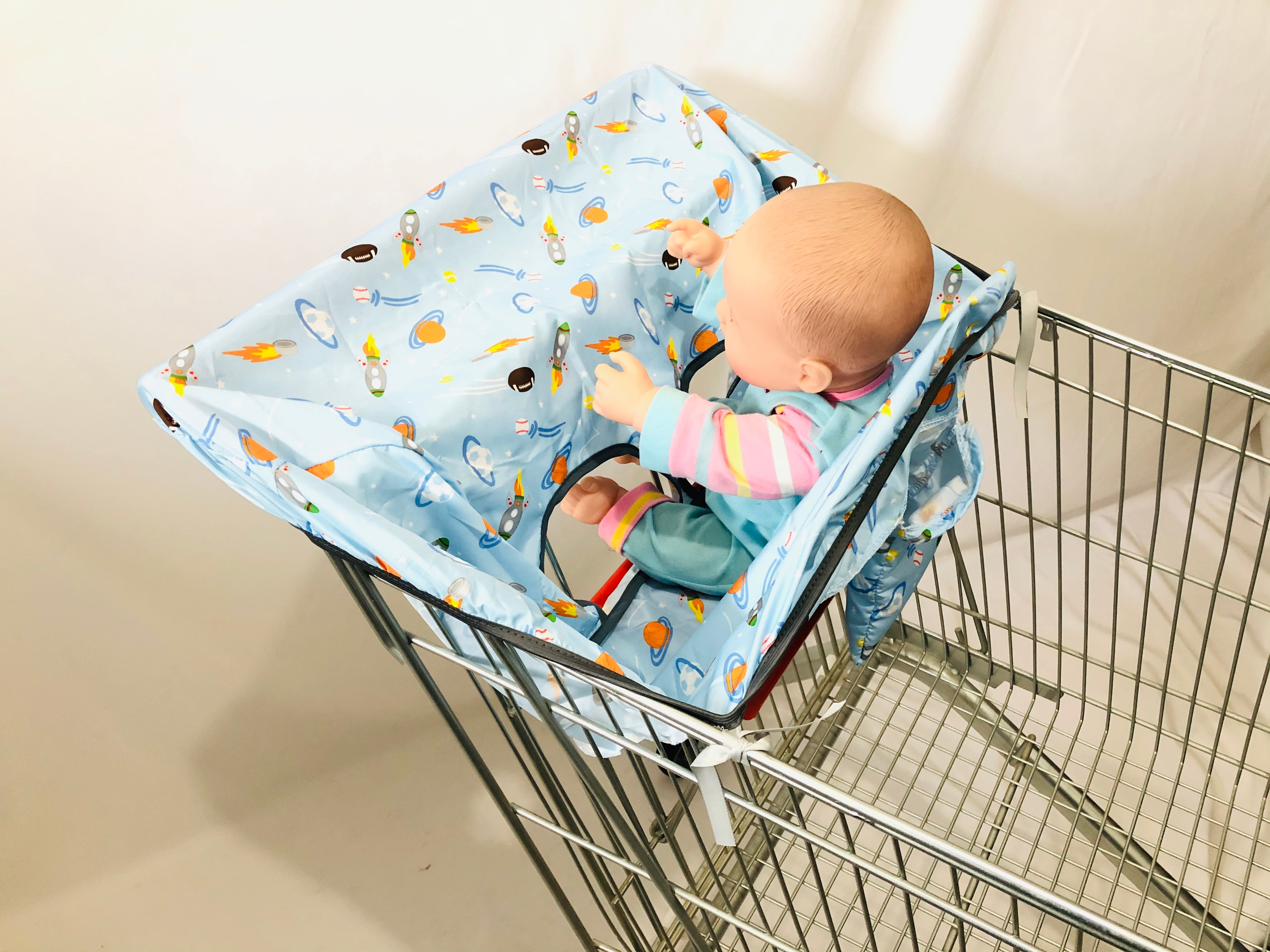 2in1 Trolley Cover/Highchair Cover for Baby Infant&Toddler/Kids cushion Mat for supermarket shopping