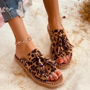 Women Slippers Leopard Flat Sandals Comfort Women Shoes Woman Sandalie Light Women Slippers Ladies Shoes Women's Shoe Slipper