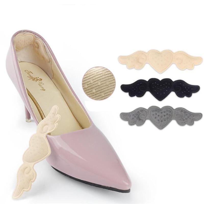 Heart Heel Insoles Pads for Women High Heel Shoes Adhesive Liner Grip Heels Protector Sticker Foot P