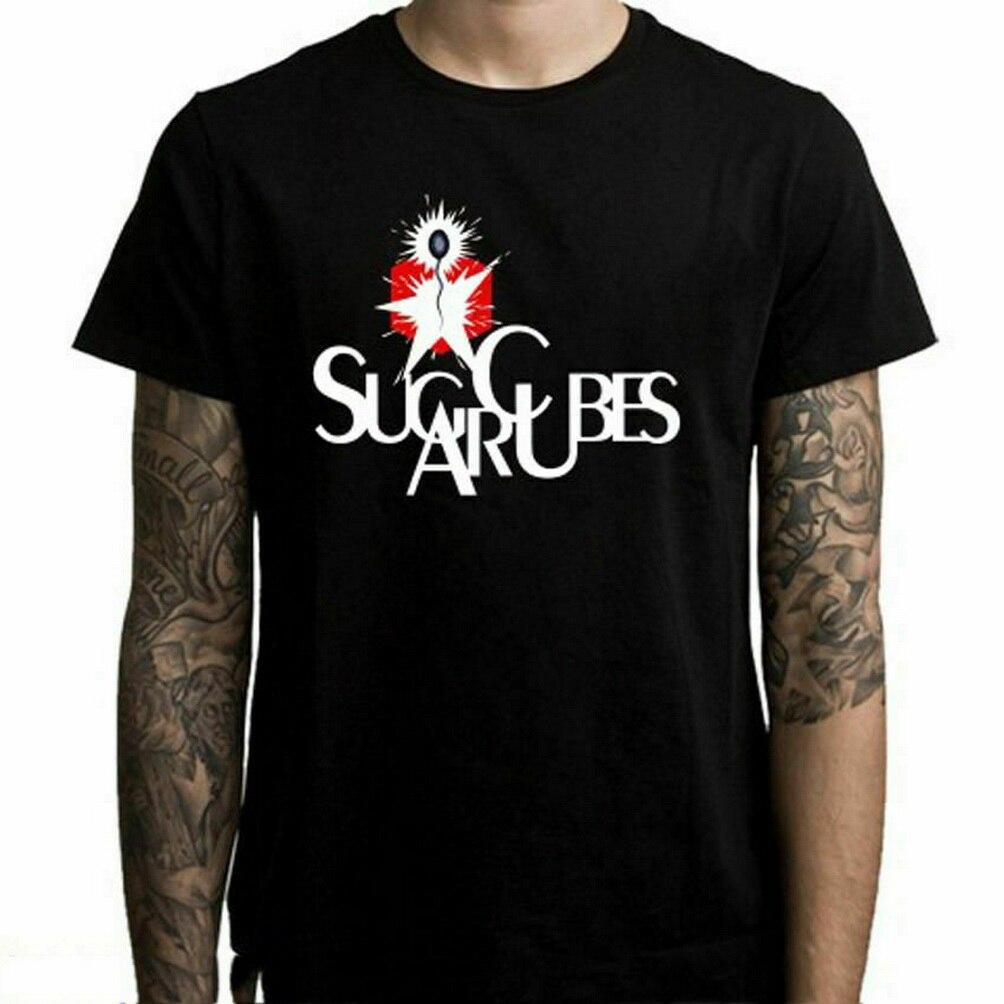 Sugarcubes Bjork рок-группа Legend логотип мужская Черная Футболка размер S до 3Xl Повседневная футболка