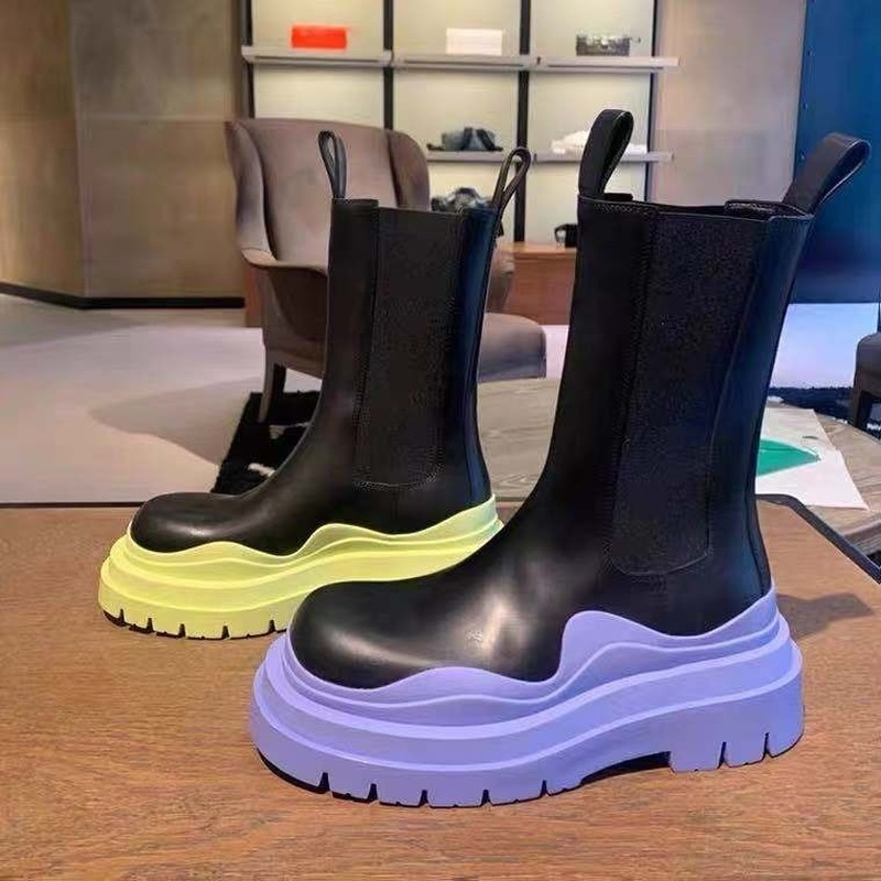 Women Chunky Heel Ankle Boots Woman Shoes Autumn Brand Designer Chelsea Boots Female Platform Boots