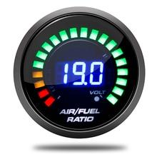 Mayitr jauge numérique avec support bricolage   Voiture de 52mm 12V Ratio de carburant de lair jauge AFR avec support, accessoires pour le bricolage 1 pièce