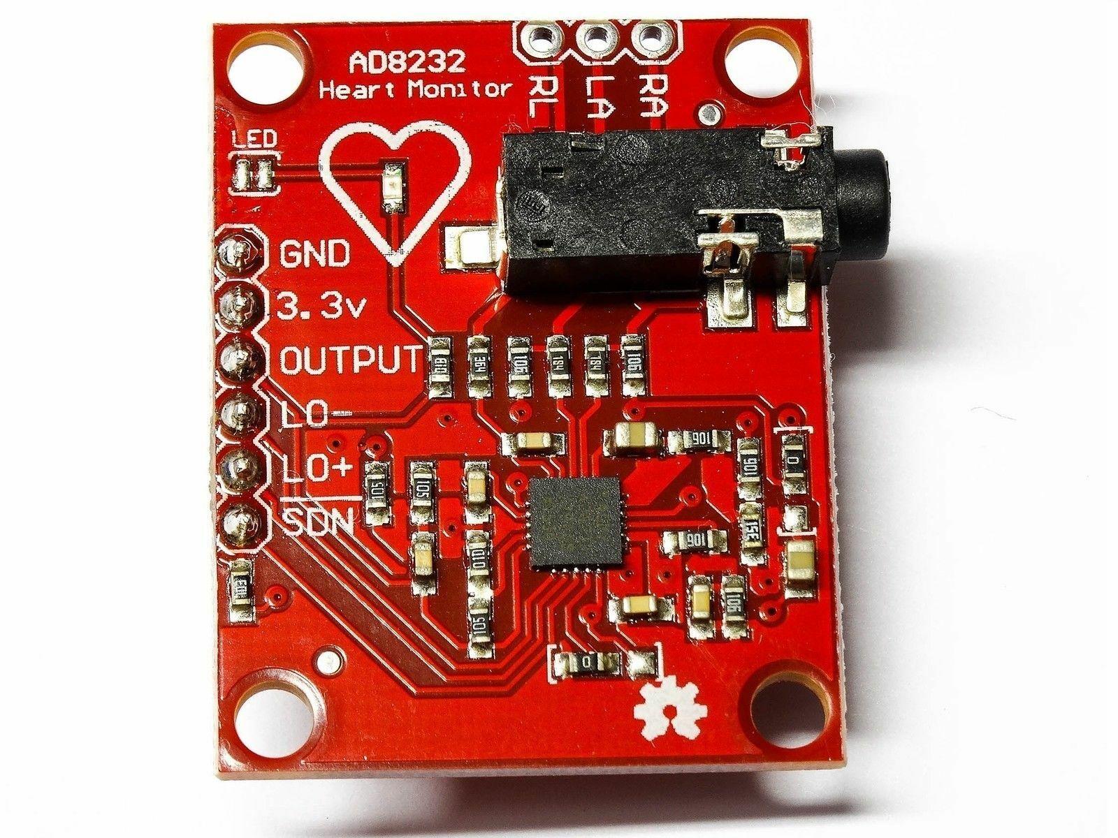 وحدة مراقبة معدل ضربات القلب AD8232, رصاص واحد AD8232