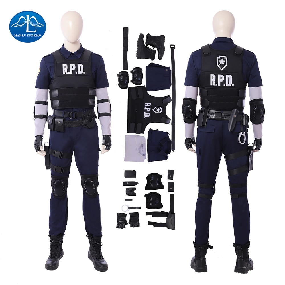 Manluyunxiao Cosplay Costume Leon Game Cosplay Costume Halloween Costumes For Men Game Suit Custom Made game anime yowamushi pedal onoda sakamichi uniforms suit cosplay costume jersey gloves