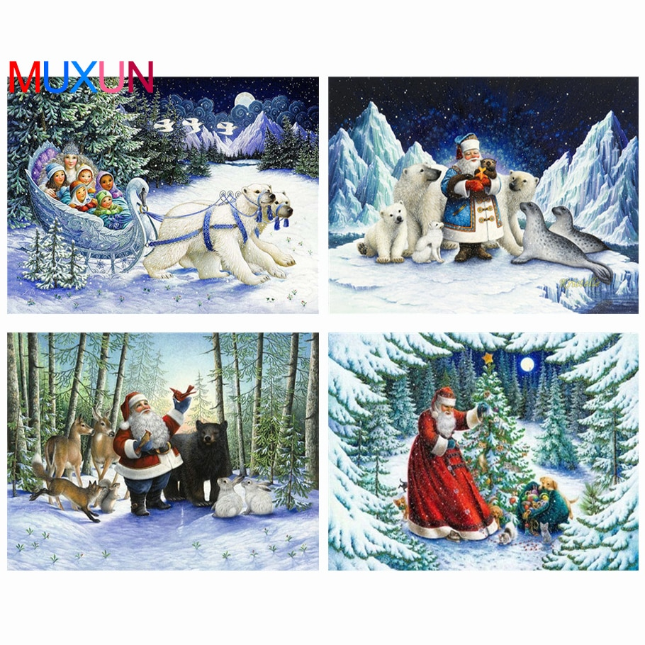 5D Diy Diamond Embroidery Christmas Home Decor Needlework Diamond Mosaic Picture Of Rhinestones Cartoon Series Gift For Kidlx778