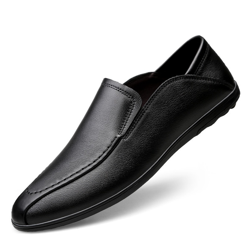 Men Dress Shoes Man 2021 New Fashion Office Business Wedding Leather Comfy Loafers Men Casual Shoes Men's Slip on Formal Shoes