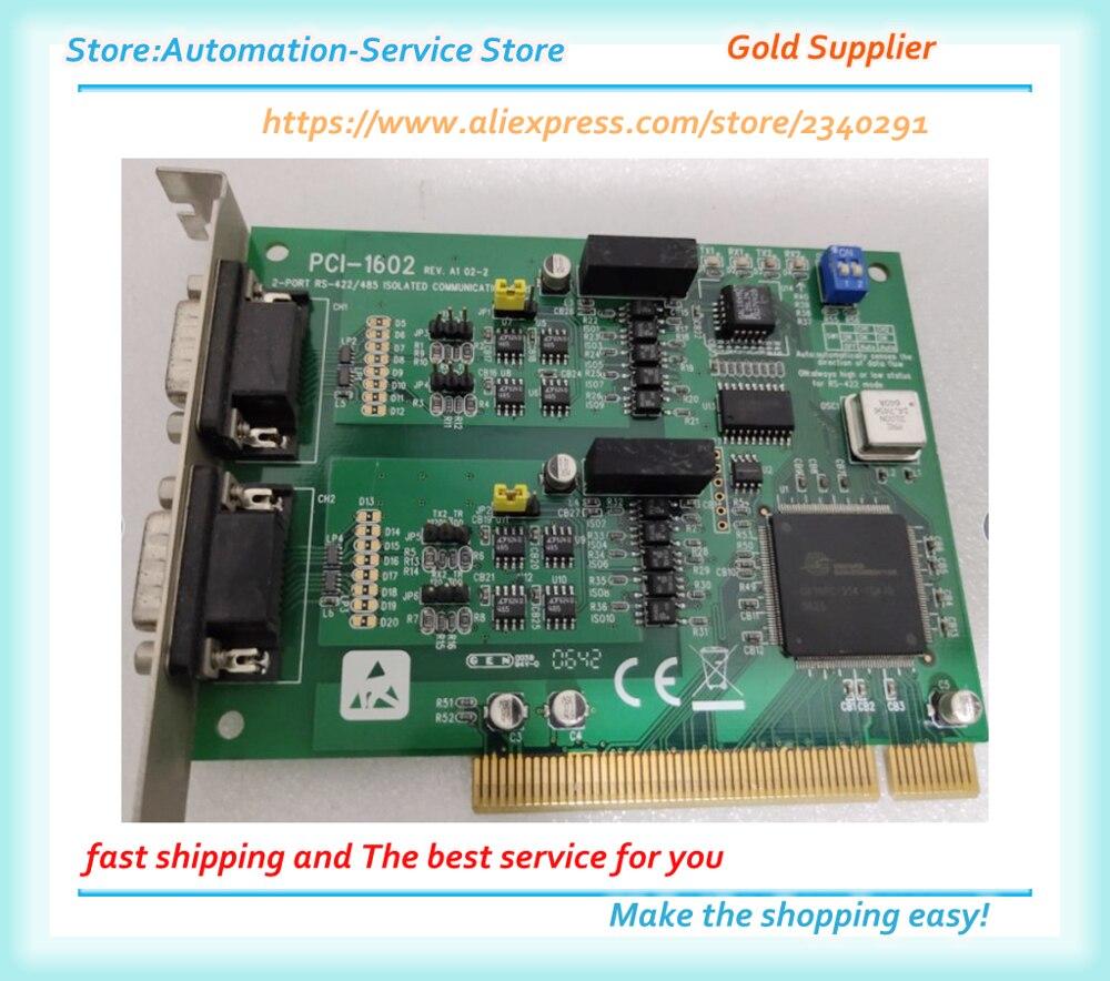 PCI-1602 2 منافذ PCI 1602 مع RS-232/485 اختبار بطاقة