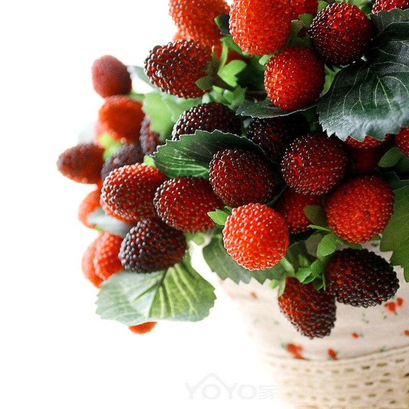 1 Uds., tentador, hoja de baya, 9 frutas, flores artificiales, bricolaje, boda, hogar, oficina, decoración de jardín, accesorios, flores falsas, imitación @