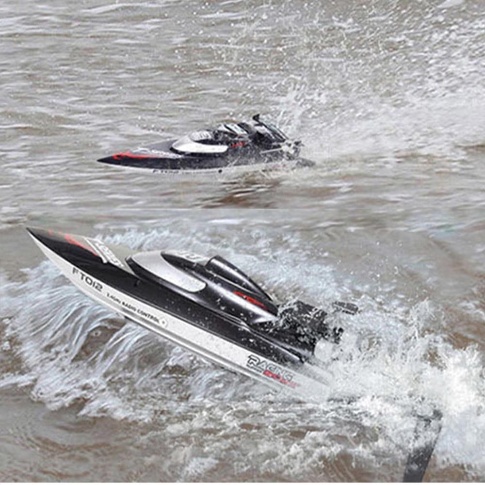 Feilun ft012 alta velocidade rc racing boat brushless rápido auto righting rc barco 45km/h vs ft011 ft010 ft009 modo de barco de controle remoto