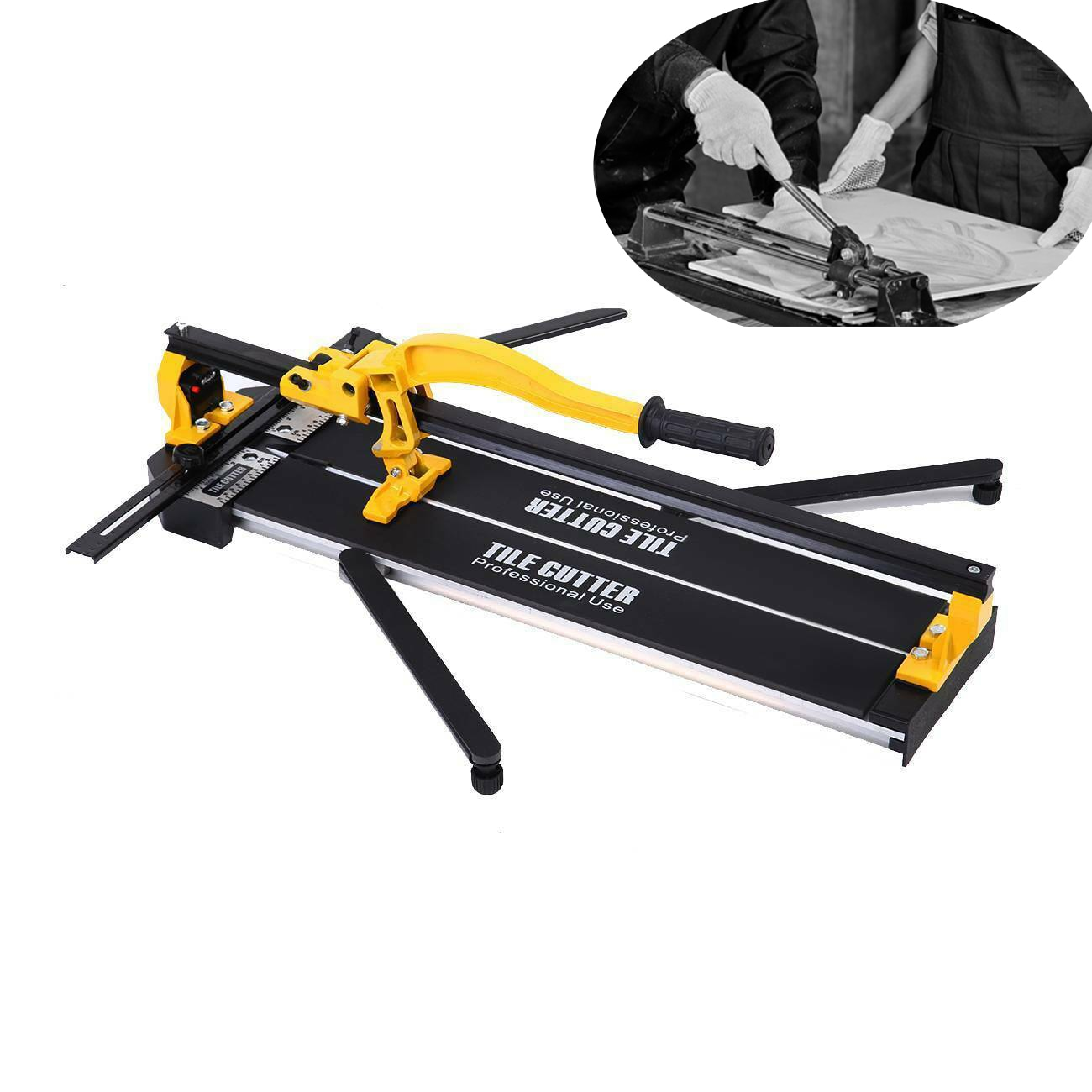 Honhill Tile Cutting Machine 600 mm Professional Tile Cutter Laser Positioning Manual Tile Cutter Cutting Thickness 6-15mm