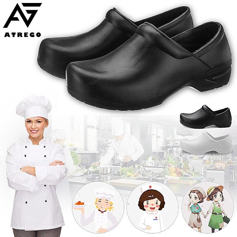 Atrego Women Kitchen Medical Nursing Kitchen Slip on Comfortable Lightweight Anti-slip Shoes Woman Sandals Unisex Casual Shoes
