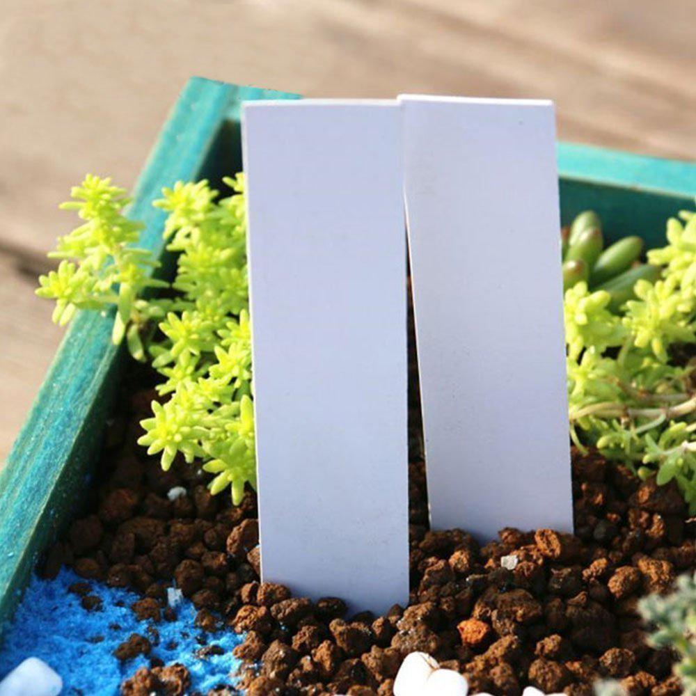 Étiquettes plastique pour plantes de jardin | 100 pièces, étiquettes en plastique pour pépinières, marqueurs de Pots de fleurs, étiquettes de semis, plateau marque, outils de mélange de couleurs