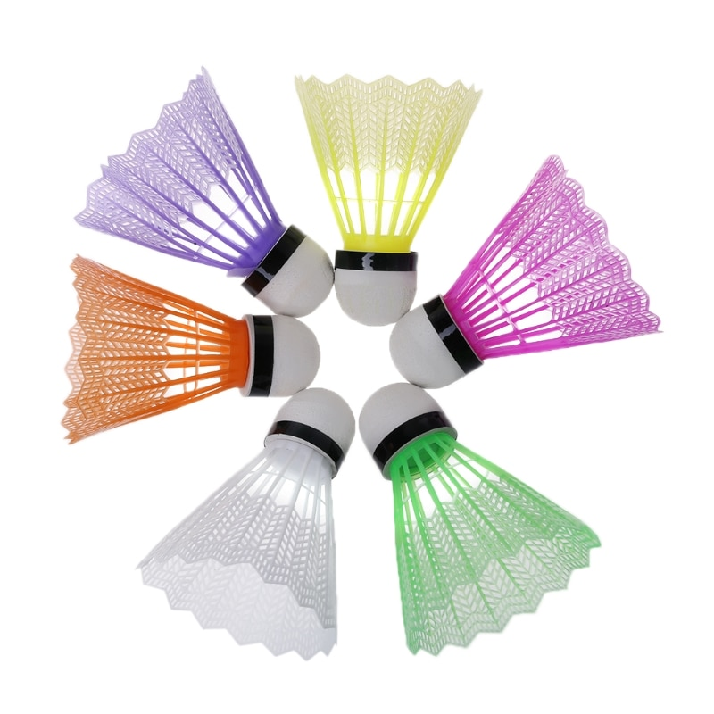100% Brand New and High Quality 12 Pcs Colorful Badminton Plastic Shuttlecocks Indoor Outdoor Sports Accessories
