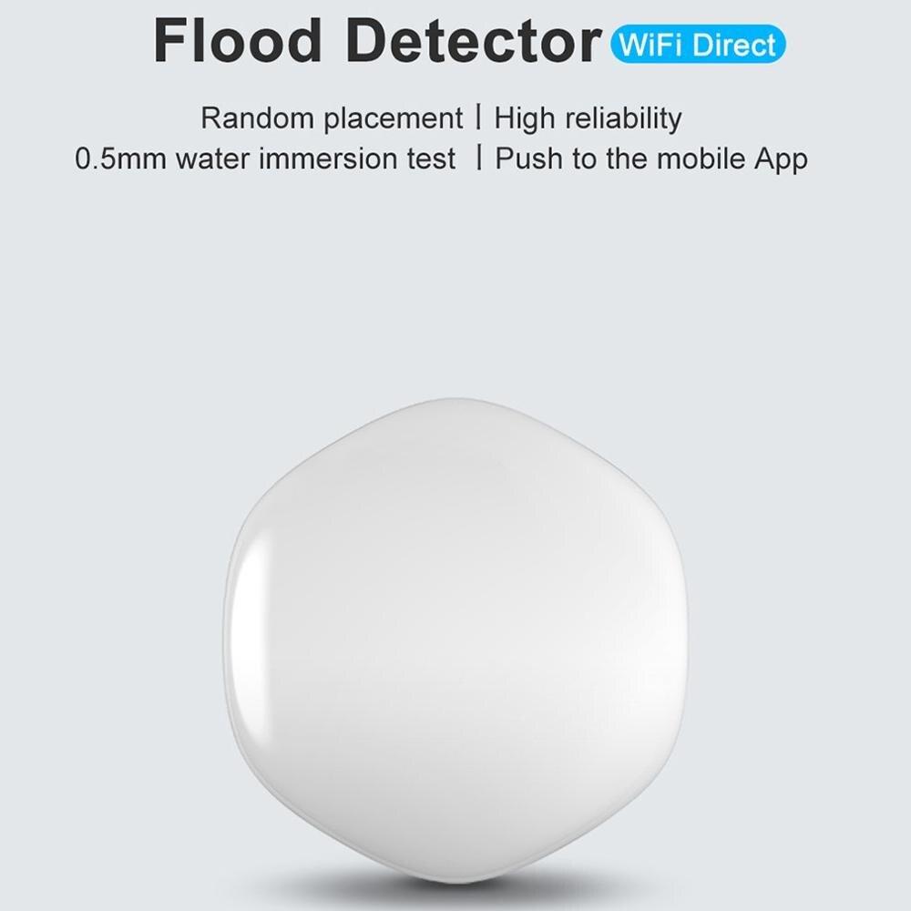 Sensor de inmersión de agua inalámbrico Wifi duradero, equipo doméstico inteligente, ajuste de la escena de conexión de alarma de seguridad con escena de automatización del hogar