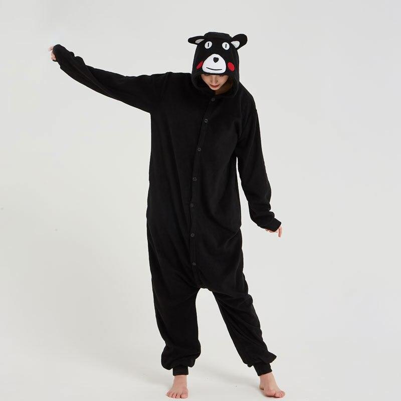 Kumamon Kigurumis Animal Bear Onesie Women Men Adult Jumpsuit Black Pajama Funny Cute Carnival Festival Outfit Girl Cartoon Suit