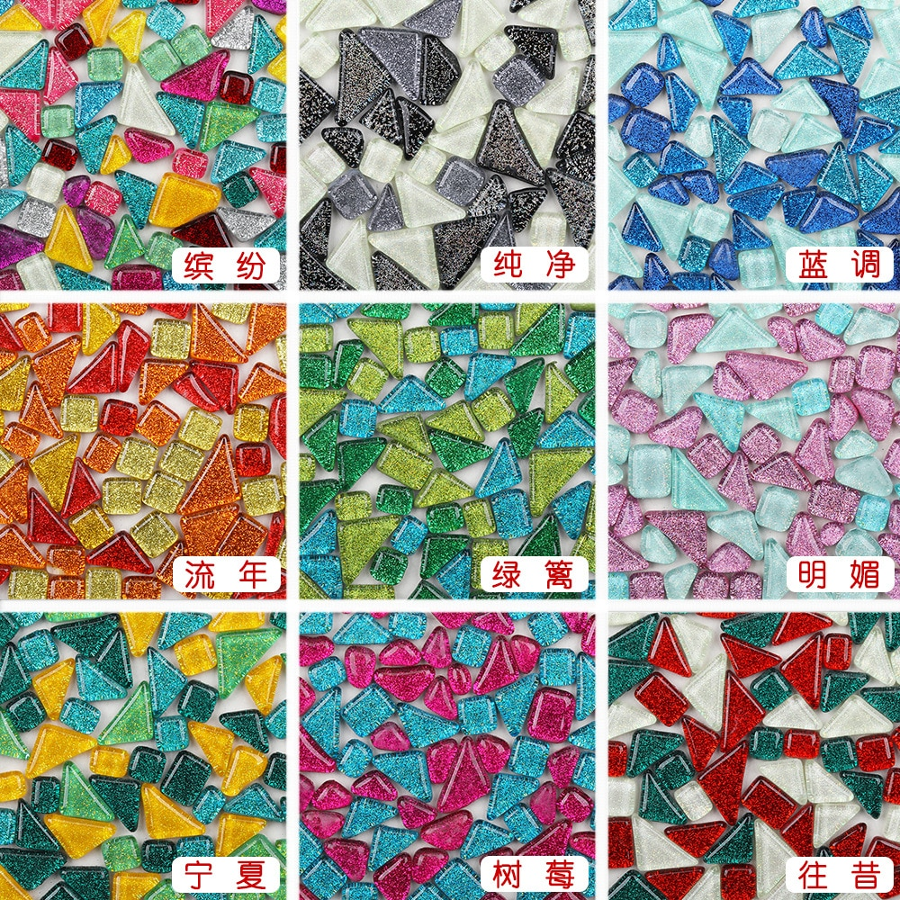 Glitter crystal free stone irregular mosaic DIY handmade material 1kg
