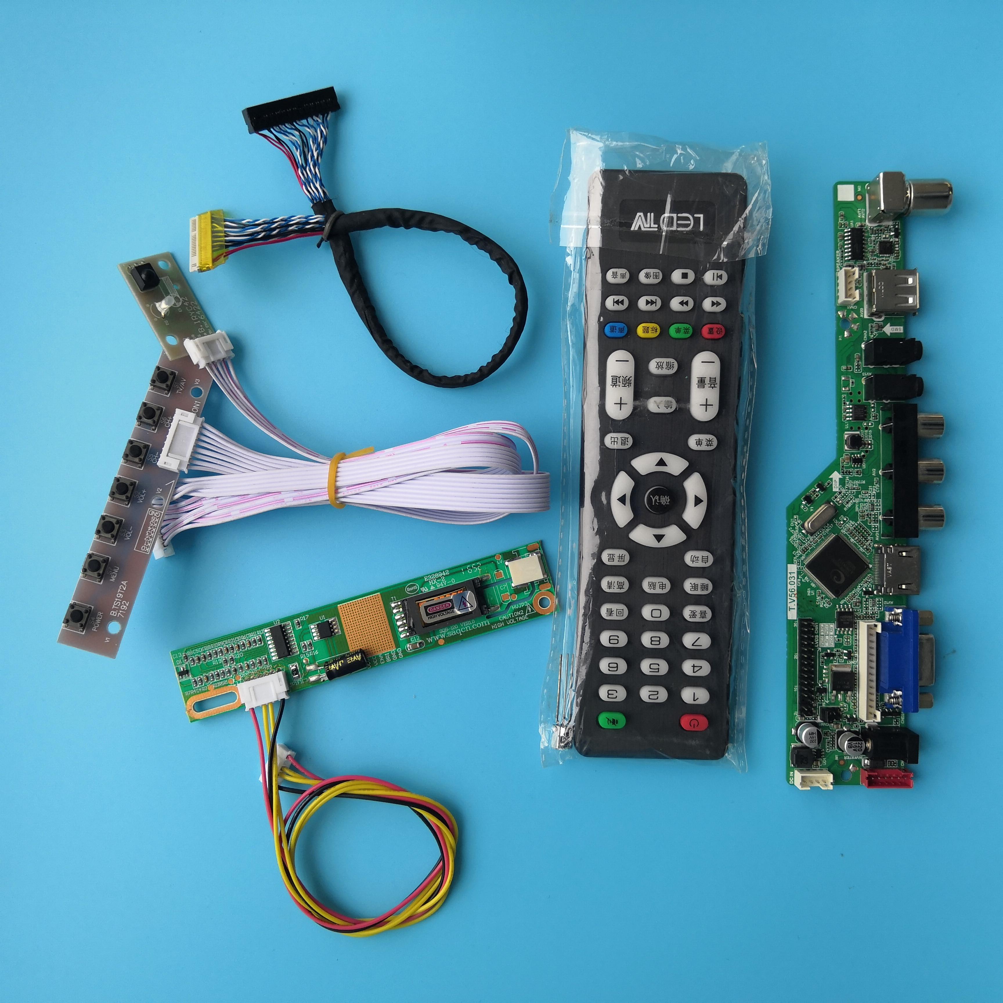 لوحة تحكم في التلفزيون لوحدة N150X3 -L05 ، 30 دبوس ، دقة إشارة رقمية AV VGA 1 ، مصابيح 15 بوصة ، لوحة أم 1024X768
