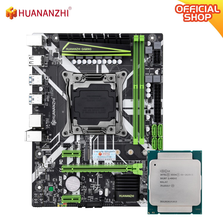 HUANANZHI X99 8M X99 اللوحة مع إنتل زيون E5 2620 v3 كومبو كيت LGA2011-3 جميع سلسلة NON-ECC الذاكرة NVME SATA USB3.0
