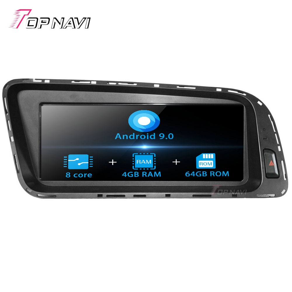 Topnavi Android 9,0 centro multimedia de coche reproductor de Radio para AUDI Q5 2009, 2010, 2011, 2012, 2013, 2014, 2015 estéreo navegación GPS SIN DVD