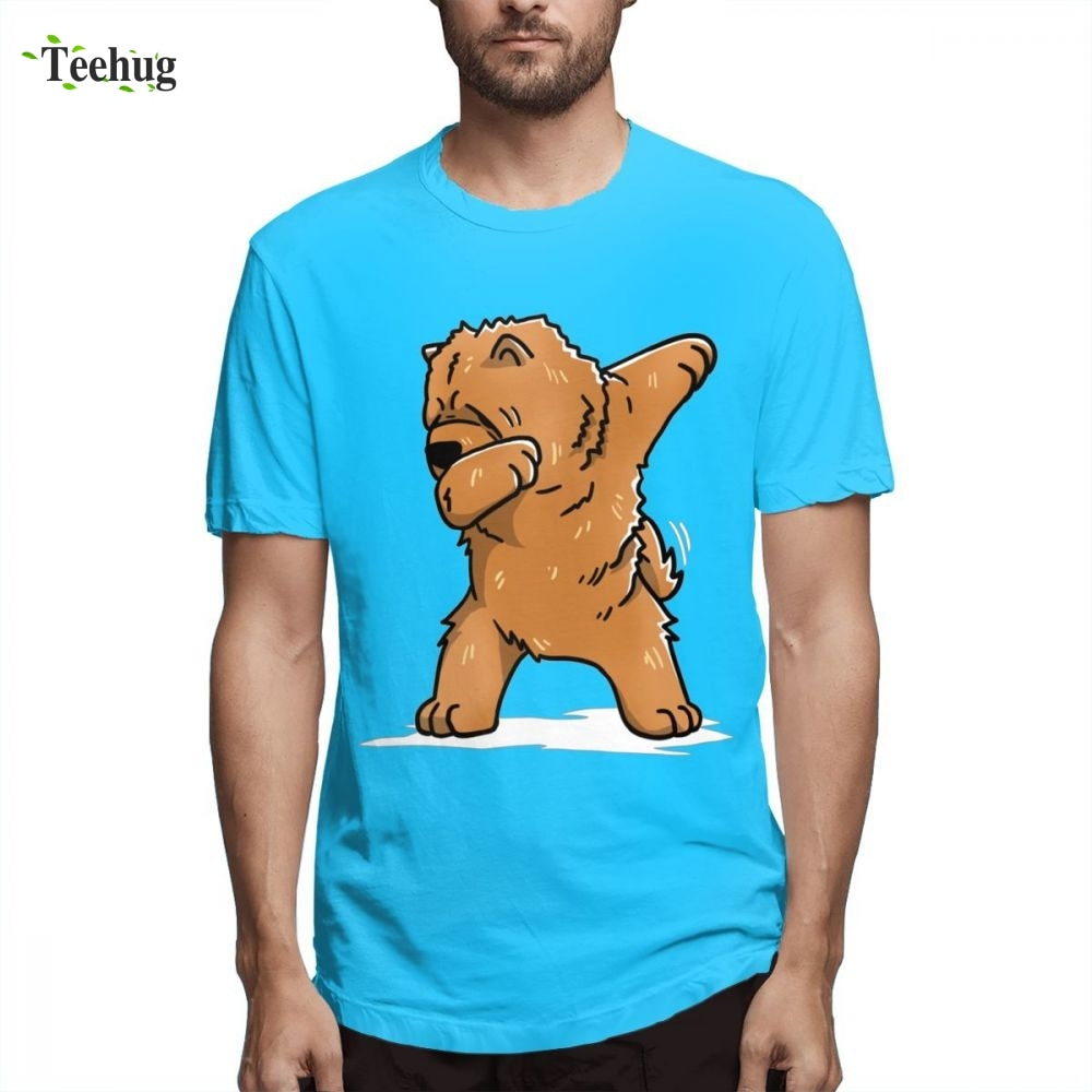 Divertido Dabbing Chow Dog Homme Camiseta ajustada para hombre divertido Streetwear cumpleaños regalo camiseta para hombre