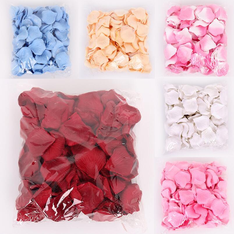 100 unids/pack falso Rosa pétalos flor tirar seda pétalo Artificial pétalos para boda fiesta evento cumpleaños decoración creativa