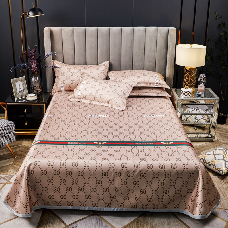 رد الفعل الطباعة لينة السرير حصيرة مع المخدة تنفس بساط نوم آلة قابل للغسل الصيف كول السرير حماية الوسادة