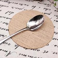 4pcs rustic placemat natural jute burlap insulation tea cup coaster round rectangular dining tableware pad non slip table mat