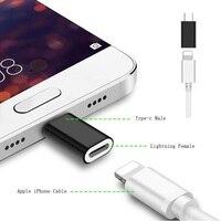 Переходник для зарядки и синхронизации с 8-контактным разъемом Lightning «Мама» на Micro USB/Type C «папа» для iPhone, кабель для Xiaomi Huawei Android Phone