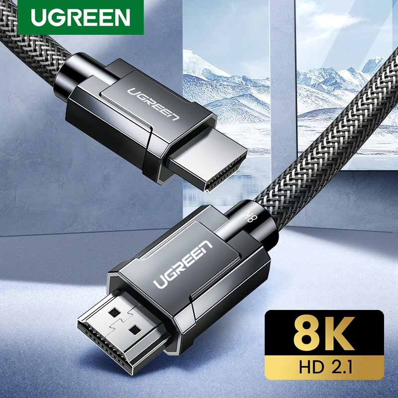 Ugreen 8K HDMI-compatible Cable for Xiaomi Mi Box 8K/60Hz 4K/120Hz 48Gbps Digital Cables for PS5 PS4