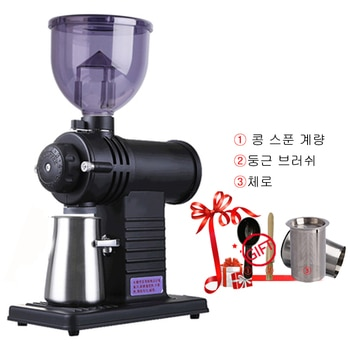 220V/110V Electric Coffee Grinder Machine Coffee Beans Particle Fully Automatic Detachable 10 File Adjustable High Capacity Fast