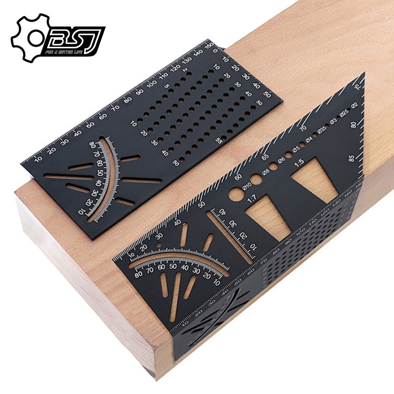 Aluminum Alloy Multifunctional Angle Ruler With 45 Degrees And 90 Over-Line Angle Ruler [vk] tocos lap axial length 50mm small angle 45 degrees 3pcs lot switches