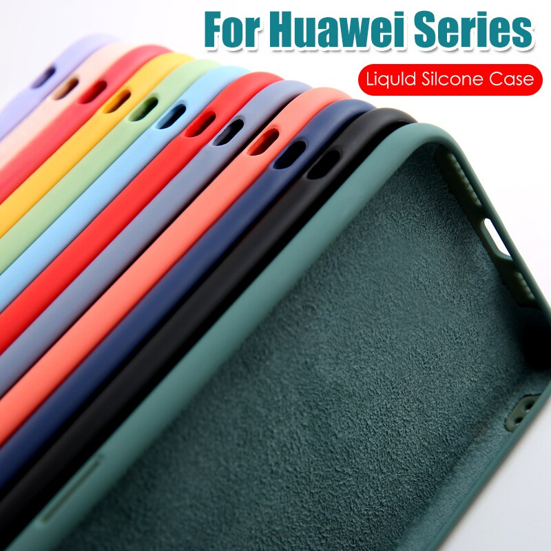 Чехол для Huawei P40 Lite P30 P20 Honor 30 30S V30 20 Play 4T Pro 9A X10 Max жидкий силиконовый чехол для Huawei Mate 30 Lite