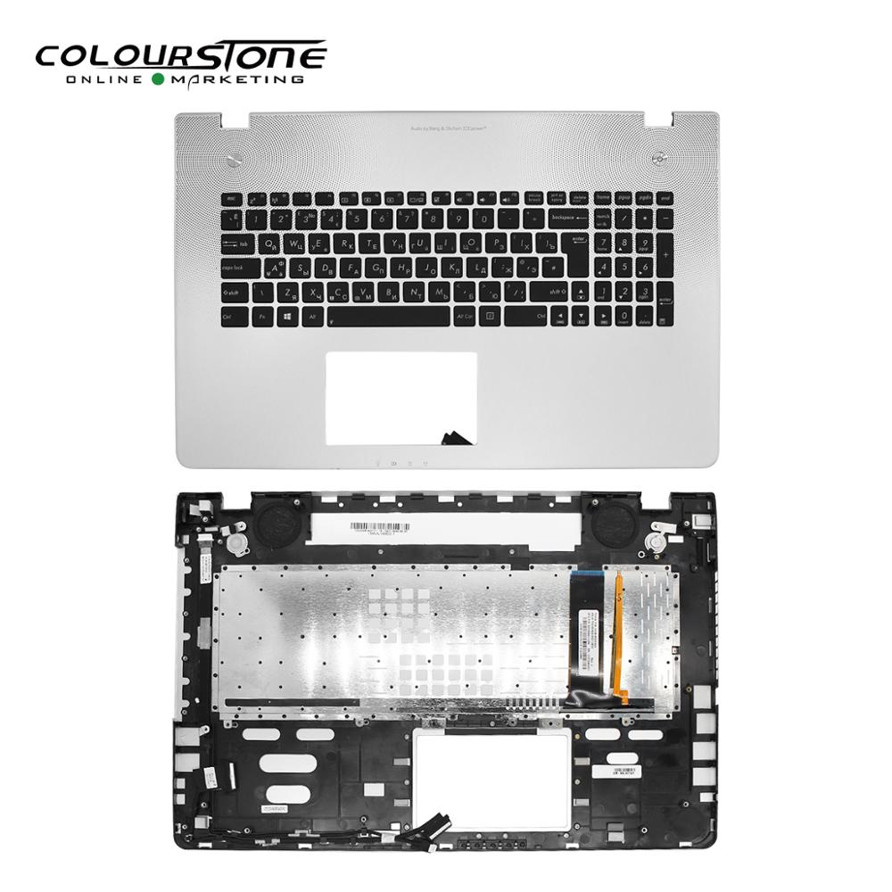 Русская черная клавиатура с крышкой C для ноутбука, клавиатура RU для ASUS N76 с подсветкой