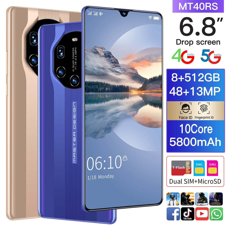 SAILF Note9 pro celular Android 10.0 Mobile Phone 6.8' FHD+ 48MP Triple Camera 12G RAM 512GB ROM Smartphone  cellphone