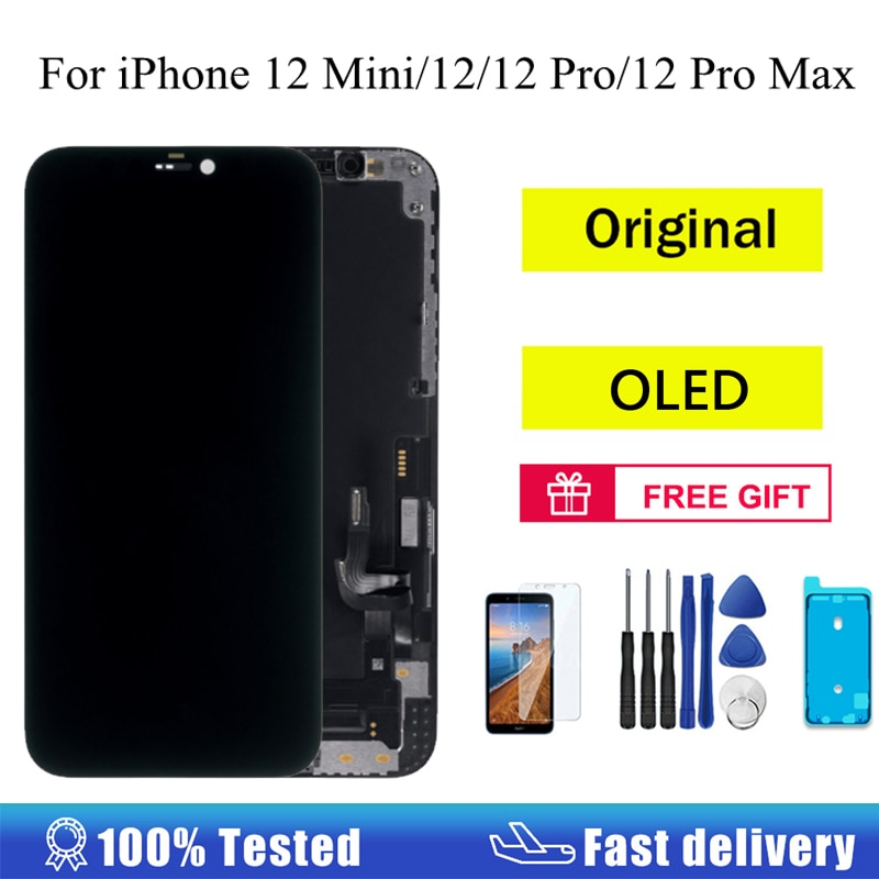 Original OLED For iPhone X 12 Pro LCD Display Touch Screen Digitizer Assembly Replacement Parts For iPhone X 12 Max XR XS LCD screen for iphone x oled 11 pro with 3d touch digitizer assembly lcd screen replacement display for iphonex 11 pro lcd with gift