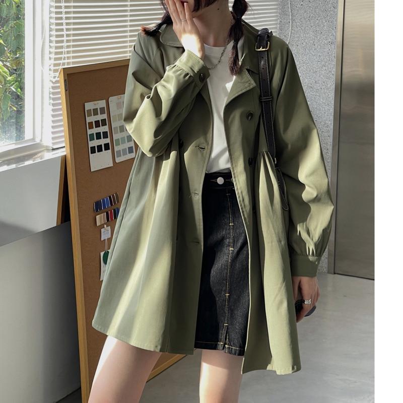 Overcoat Women  Windbreaker Coat Women's Short Fashion 2021 Spring And Autumn New Small Temperament