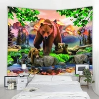 3d panda decorative wall tapestry forest animal tapestry mandala decorative wall tapestry bohemian decorative tapestry