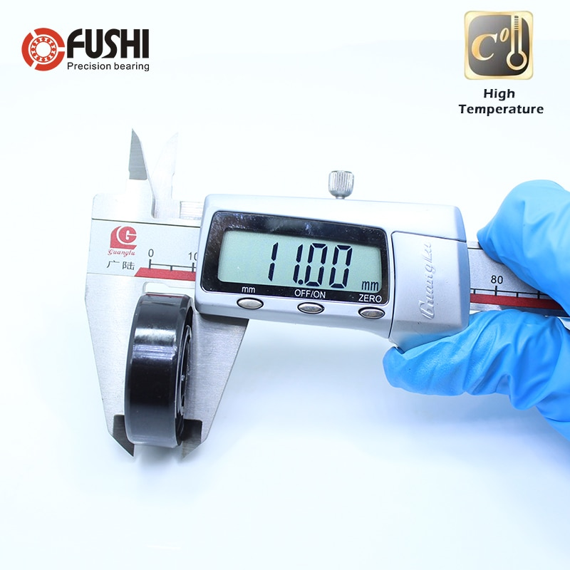 6202 Open High Temperature Bearing 15*35*11 mm ( 2 Pcs ) 500 Degrees Celsius Full Ball Bearing enlarge