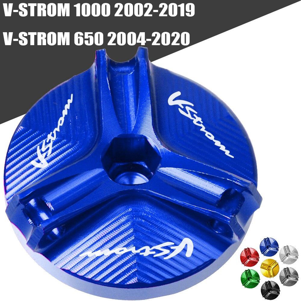 Motorcycle CNC Engine Oil Filler Cup Plug Cover cap Screw For Suzuki V-STROM 1000 DL1000 2002-2019 VSTROM 650 DL650 2004-2020