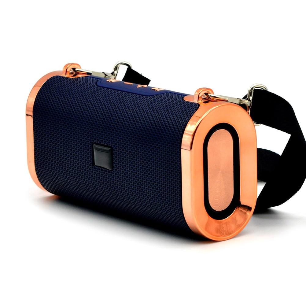 Altavoz de comunicación inalámbrico portátil de gran oferta a prueba de agua sonido alto de alta definición con correa colgante