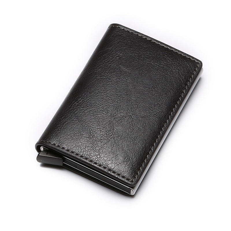 Купить с кэшбэком BISI GORO Unisex Purse Mini Aluminium Metal Slim Business Card Wallet Men Credit Card Holder Blocking Rfid Wallet  Money
