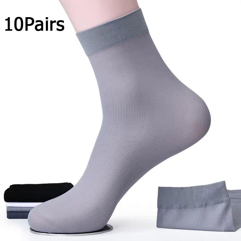 AliExpress - 10Pairs Bamboo Fiber Socks Men Casual Business Anti-Bacterial Breatheable Men's Middle Socks High Quality Sock
