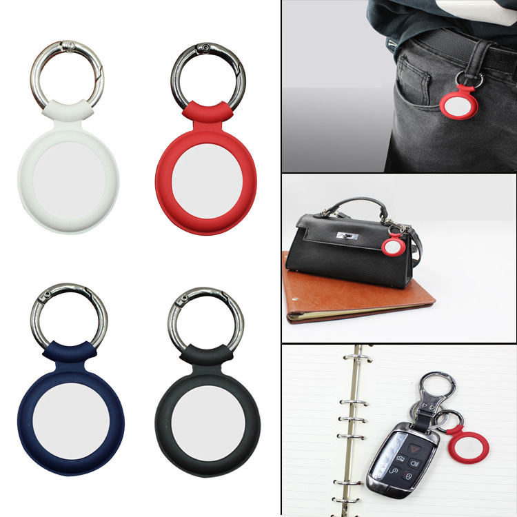 ASTUBIA Soft Liquid Silicone Protective Case For Airtags Cover Hangable Keychain Locator Tracker Cover For airtags Case