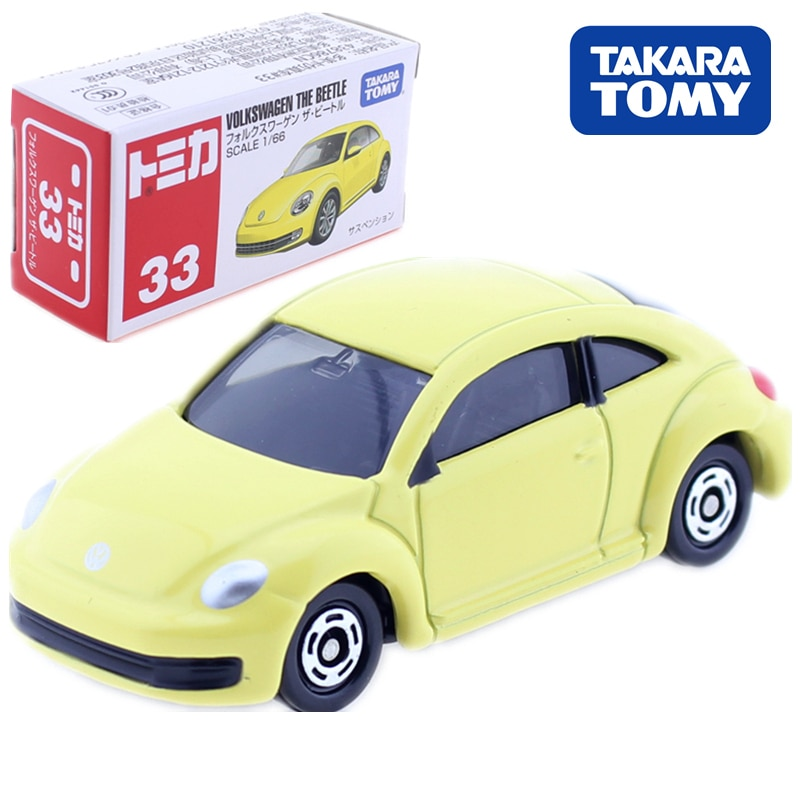 Takara Tomy Tomica No.33 Volkswagen The Beetle Model Kit1/66 Diecast CAR Classic Baby Toys Collectibles Miniature Puppets