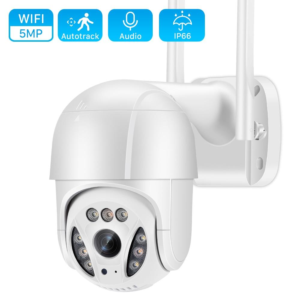 5MP واي فاي كاميرا IP في الهواء الطلق 3MP Ai الإنسان كشف السيارات تتبع كاميرا متحركة 1080P اللون الأشعة تحت الحمراء للرؤية الليلية أمن الوطن كاميرا ت...