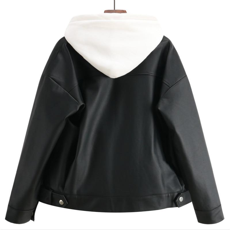 Chaqueta de piel sintética sueltos y suaves párr mujer de chaqueta de...