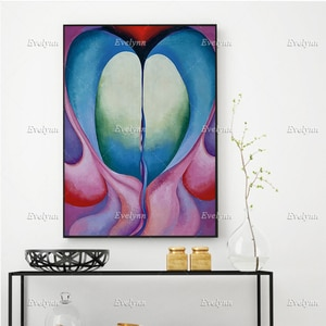 Georgia O'Keeffe Poster - Supreme Quality Print - Series 1, No. 8 - Floral Wall Art Prints Home Decor Canvas Gift Floating Frame